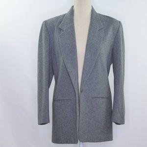 Pendelton Longline Gray Wool Blazer